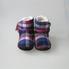 rabbit fur and fleece lined baby leather moccasins