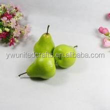 Lifelike Mini small Fruit Foam yellow/green Pears for Outdoor exhibition model