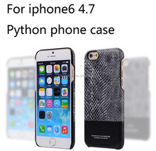 Luxury real leather snake skin pattern phone case for iphone 6