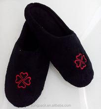 2015 nuovo stile black di corallo del panno morbido con anti- pantofole antiscivolo