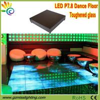 Indoor fullcolor stage lighting P7.8 Video LED dance floor for home
