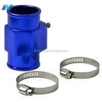 40MM Blue Aluminum Radiator Water temperature Sensor Gauge Adaptor Attachment