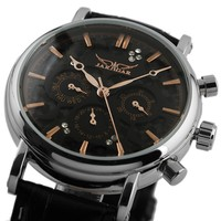 classic stainless steel skeleton automatic mechanical watch WM367