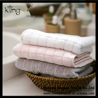 100% Cotton simple strong absorbent dobby border towel