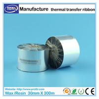 30mm X 300 Meters high quality wax/resin thermal barcode ribbons compatible Datamax thermal transfer printer Ribbon