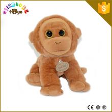 Mini monkey plush keychain toy soft cute cheap stuffed custom plush monkey