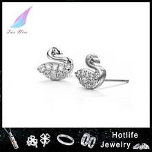 jewelry fashion swan shape unique design tragus earring