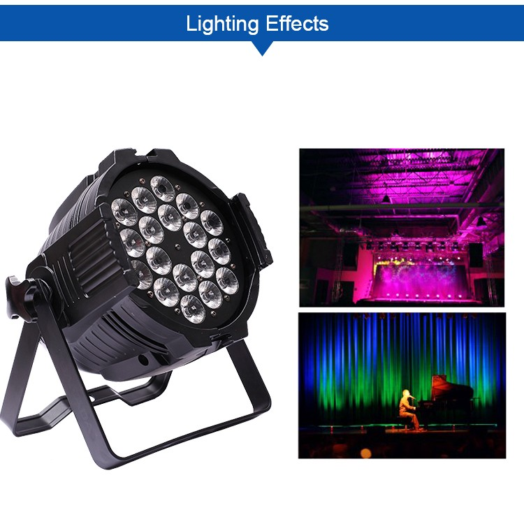 Best price cheap indoor stage lighting 18W 18pcs rgbawv 6-in-1 led par stage light