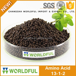 efficient slow release organic fertilizer amino acid and humic acid granular fertilizer with NPK 13-1-2
