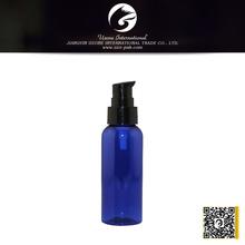 blue color plastic water bottle