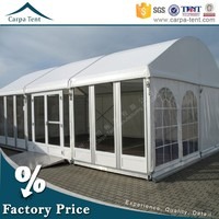 Strong Aluminium Frame Glass Dome Tent With Double-Wings Glass Door For Sale