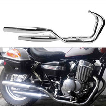 Chrome One side Exhaust Muffler for Honda Rebel 250 CA250 CMX250 1985-2014 96 06