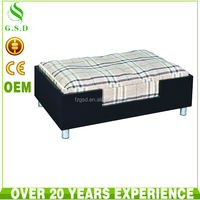 new design wood and cotton luxury pet dog bed wholesale