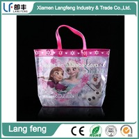 Printing plastic body wash clear vinyl pvc bags with handle