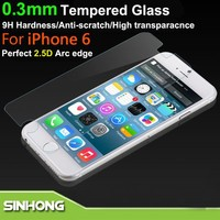 Low Price For iPhone 6 0.3mm 2.5D 9H Tempered Glass Supershieldz Screen Protector