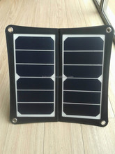 13W dual port USB 5V portable solar panel charger for mobile phone