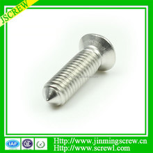 Flat head stainless steel sharp point screw