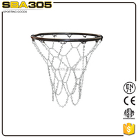 chain iron basketball net with hooks metal basketball net