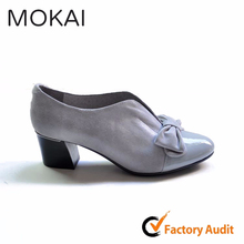 MK084-1 TAUPE women ladies office/party shoes ladies lovely charming shoes with bowknot china supplier shoes