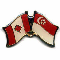 Factory directly supply custom metal Canada and Singapore flag pin badges