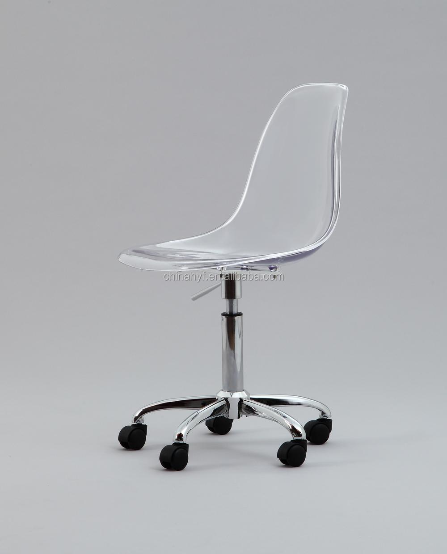 transparent pc bureau chaises pivotantes avec roue réglable jambes ... - Chaise De Bureau Transparente