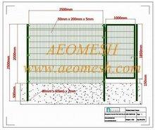 Pvc clôture mobile panneaux / PVC confidentialité mur clôtures pour jardin / PVC valla de jardin