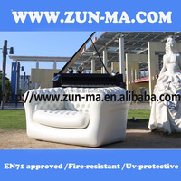New fashion PVC lounge inflatable couch beautiful inflatable outdoor sofa