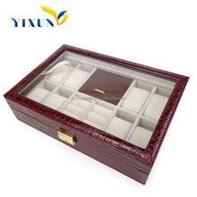 2015 new products pocket strap wood watch display case