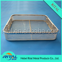 Stailess Steel Medical Sterilization Wire Mesh Baskets,medication storage wire baskets
