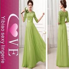 Diseño caliente belleza de la colmena del vestido de noche de gasa para mujeres desgaste del partido vestidos largos