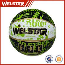 rubber material colorful mini basketball
