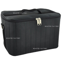 Beauties Factory Beauty Box Makeup Cosmetic Nail Tech Beautician Black Bag Case