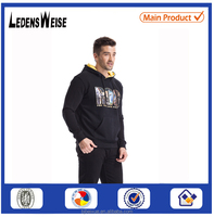 Fashion christmas winter wool knitted jacquard hot selling factory velour hoodie men