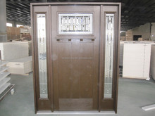 high quality USA wrought iron grille fiberglass frp grp SMC glazing door