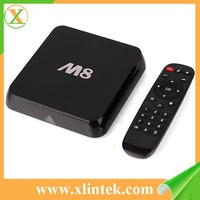 2015 hot sell 4k satellite receiver m8 m8n google android tv box support youtube skype facebook