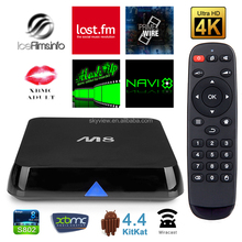 Cheapest google android 4.4 quad core 4K internet android tv box mx6,mx6 smart tv box,Mx8 smart tv box