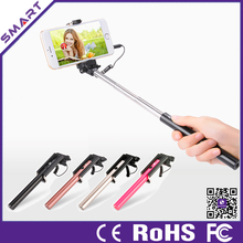 2015 Wholesale Selfie stick Mini Selfie Stick With Cable For Samsung/Apple
