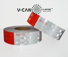 trailer reflective tapes, vehicle conspicuity markings, micro prismatic tape, SP-DOT-180012 Conform to DOT FMVSS