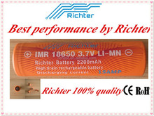 Toy battery 18650 genuine factory price IMR18650 3.7V 2200mAh 15A high power rechargeable 18650 battery