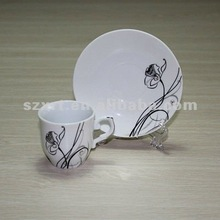 ceramic coffee cup set with jeweler bead on it