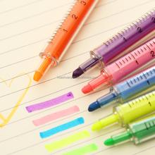Syringe Shape Highlighter Pen Injection Shape Highlighter Marker Pen