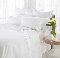 """100%combed cotton width 110"""" dyed white sateen 80s fabric for hotel bedding set"""