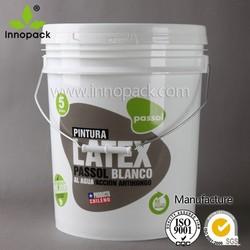 1L, 5L, 10L, 5gallon, 20L PP food grade bucket with spout and metal handle wholesale