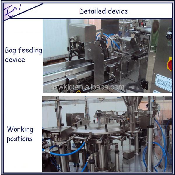 Automatic premade saffron zipper bag packaging machine