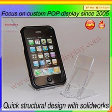 High Impact Clear Acrylic Mobile Phone Display Holder For Mobile Phone Store