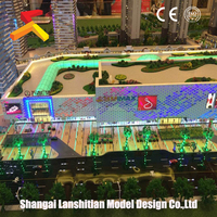 sand table model house, Commercial Building Plans