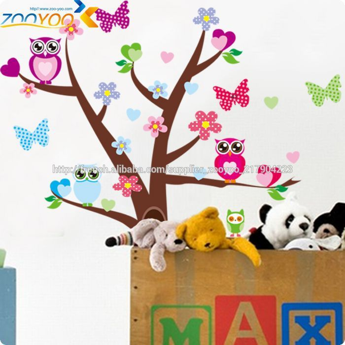 ZY1006 animaux décoratifs papillons chouette sticker wall stickers ...