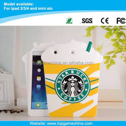 "Starbucks coffee design case for iPad 10.1"" tablet silicone case"