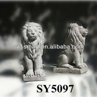 Natural high quality aniaml carving stone lion statue