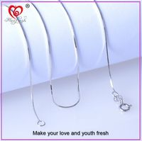 Italian Sterling Silver 925 Silver Snake Chain Italy Silver Chain 1.2mm Thickness Round Snake Chain